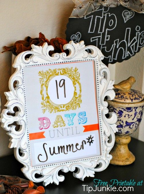 Summer Countdown Template  Perfect For Kids Who Are Anxiously