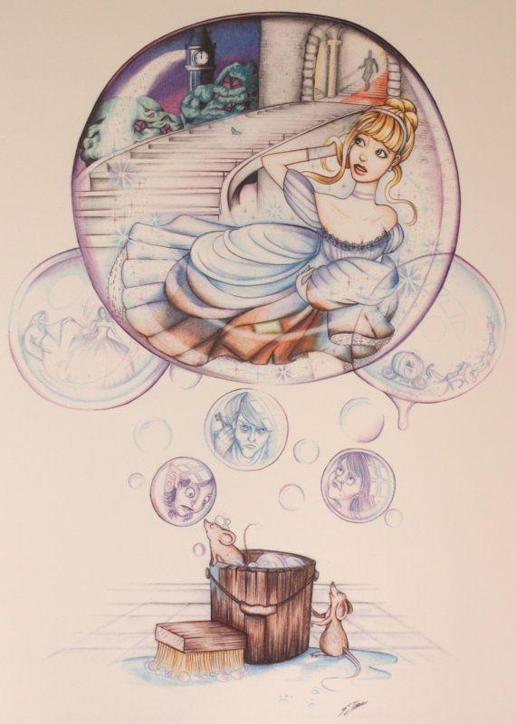 Cinderella print by Sophie Traves