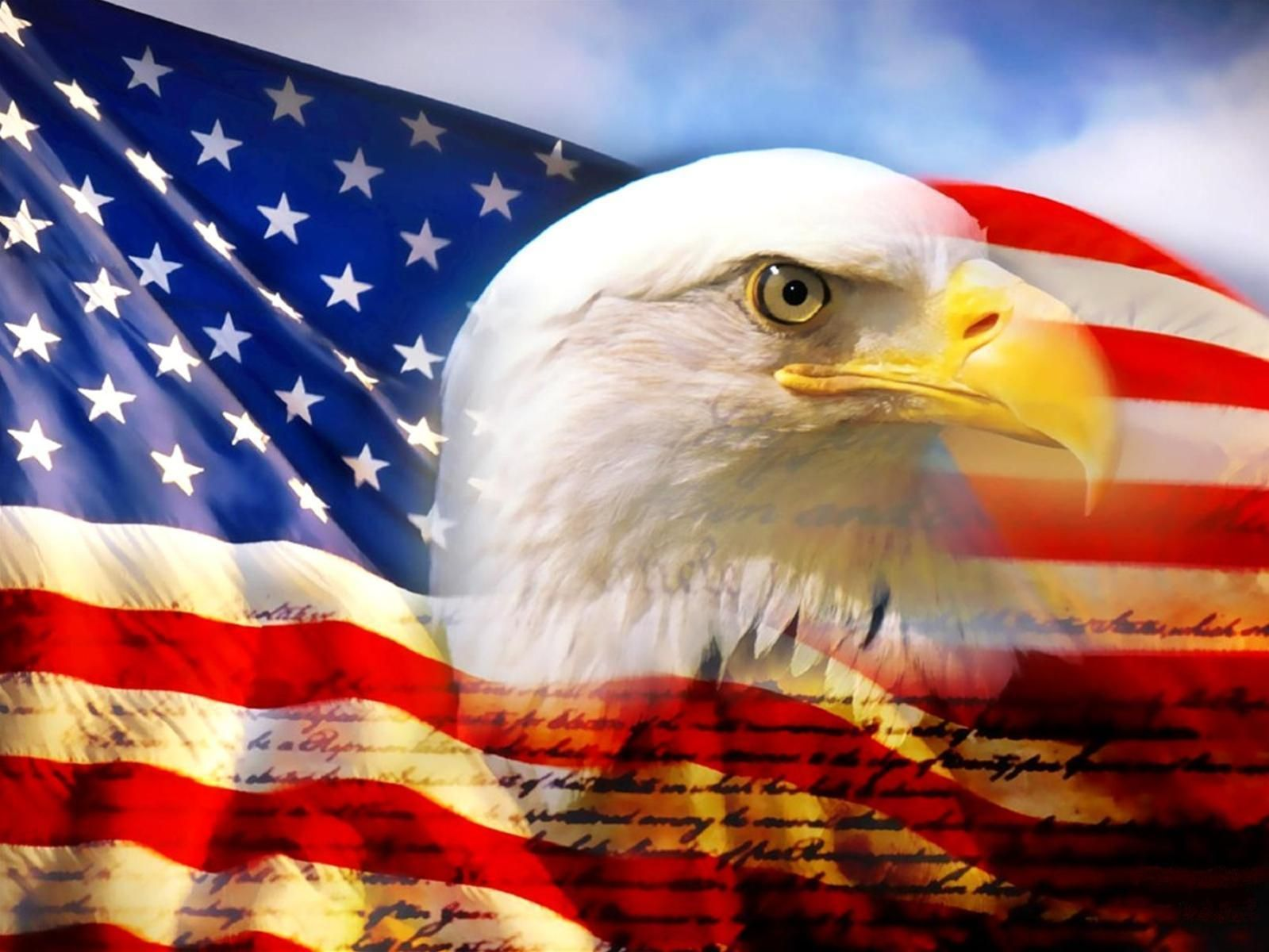 USA Flag With Eagle Wallpaper