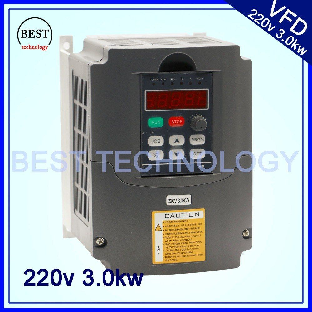 220v 3.0kw VFD Variable Frequency Drive Inverter / VFD 1HP