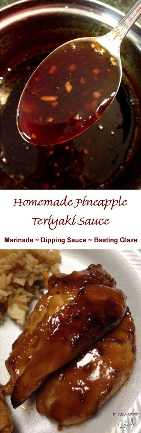 Florassippi Girl Homemade Pineapple Teriyaki Sauce ASIAN Recipes