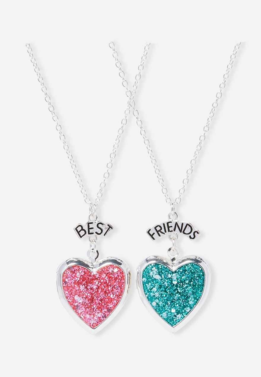 a4a68e42c1 BFF Glitter Lockets Bff Necklaces, Best Friend Necklaces, Friend Bracelets,  Best Friend Jewelry