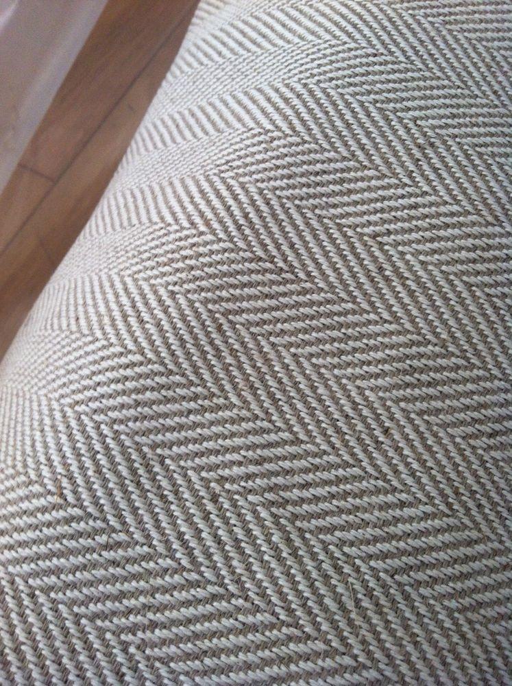 Heavy Upholstery Herringbone linenCotton Fabric 51 Inch width