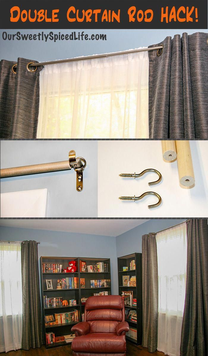 How To Make A Quick And Easy Cheap Diy Wooden Double Curtain Rod