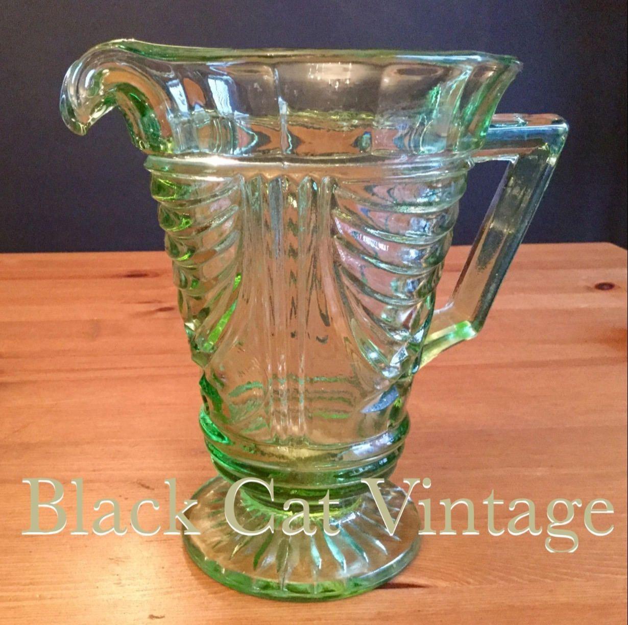 1930s sowerby pressed green glass water jug pitcher vase vintage 1930s sowerby pressed green glass water jug pitcher vase vintage retro art deco patt no 5220 reviewsmspy