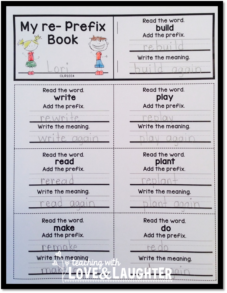 Workbooks suffixes and prefixes worksheets 4th grade : Teaching With Love and Laughter: Fun Flip Books for Short Vowels ...