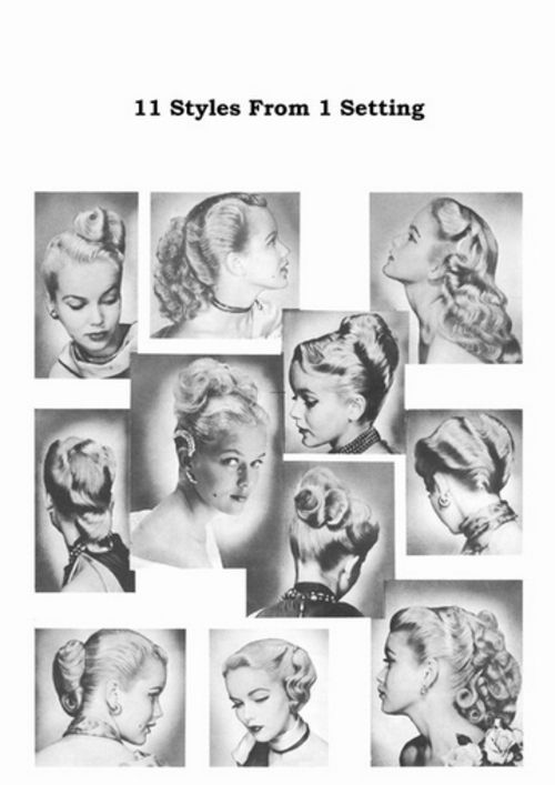 1950s Atomic Hairstyle Book Create 50s Long Hairstyles Long Hair Styles Haircuts For Long Hair Hairstyle Books