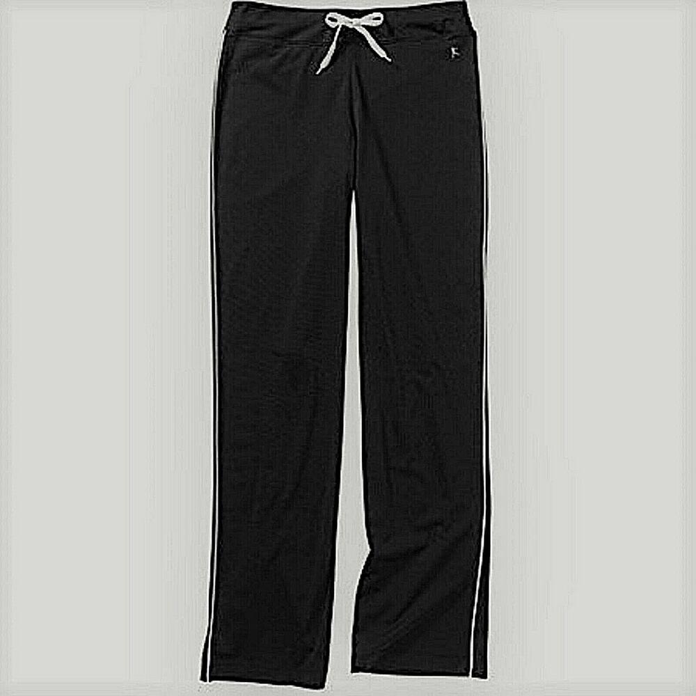 Danskin Now Track Pants Black Size 20 XXL / 2XG Rich Black
