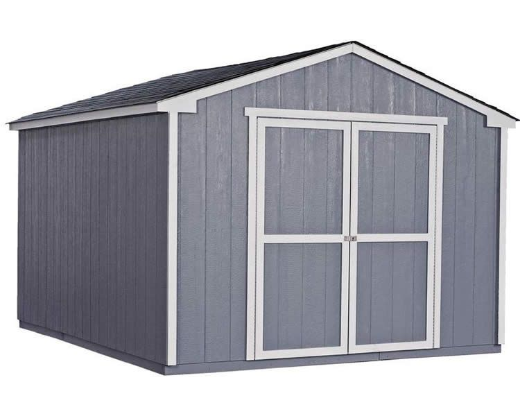 Handy Home Cumberland 10x12 Wood Storage Shed Kit Wood Storage Sheds Storage Shed Kits Shed Storage