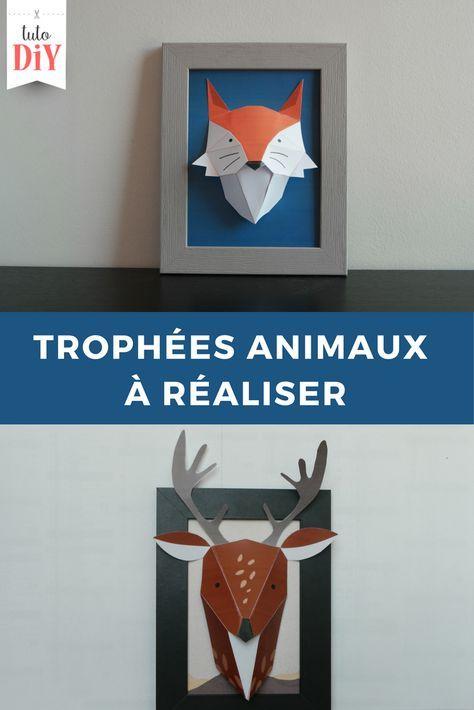 Tuto DIY vous propose des trophées du0027animaux à imprimer gratuitement - Dessiner Maison D Gratuit