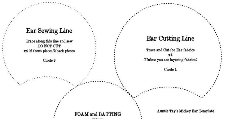 Image result for mickey ears templates | Disney | Pinterest | Mickey ...
