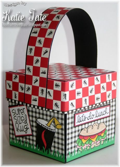 Both Sides of the Paper: A Picnic Explosion Box by Katie Tate