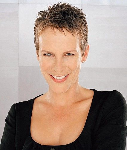 Jamie Lee Curtis Picture Celebrity Short Hair Thick Hair Styles Super Short Hair