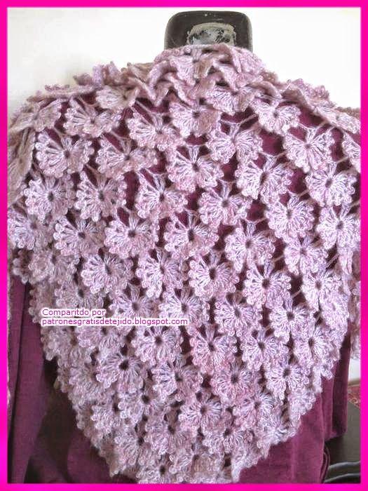 patrones ganchillo para tejer chal | Crochet y Dos Agujas ...