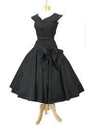 black tea length dress - Google Search