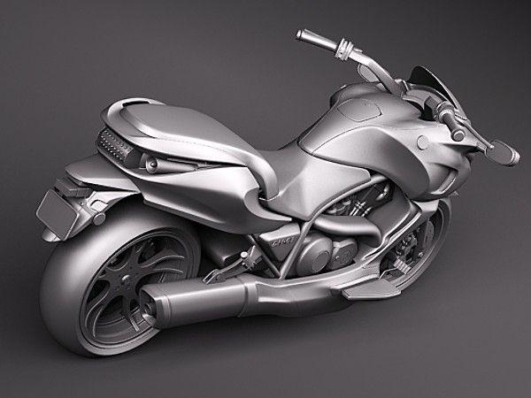 3d: Honda DN-01 automatic sports-cruiser motorcycle