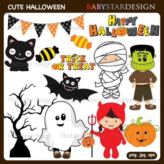CUTE HALLOWEEN CLIPART | Halloween Decorations | Pinterest