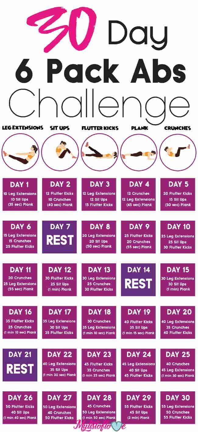 30 TAGE 6 PACK ABS HERAUSFORDERUNG (ERSTAUNLICHE ARBEITEN) - Pinterest Blog #workclotheswomen
