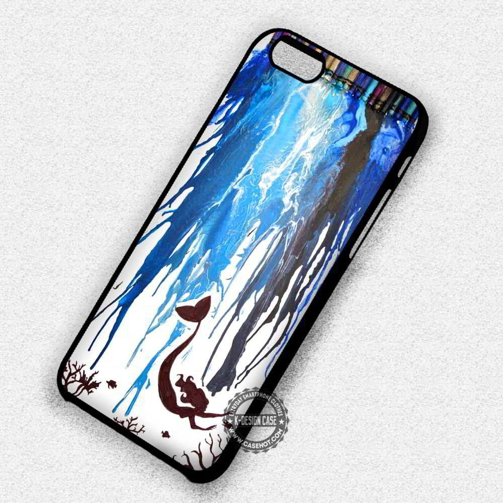 Water Color Art  Arie Little Mermaid - iPhone 7 6s 5c 4s SE Cases & Covers