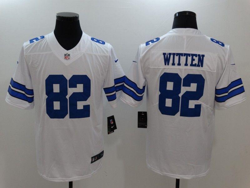 more photos cc930 1bd10 Men's Dallas Cowboys #82 Witten White Vapor Untouchable ...