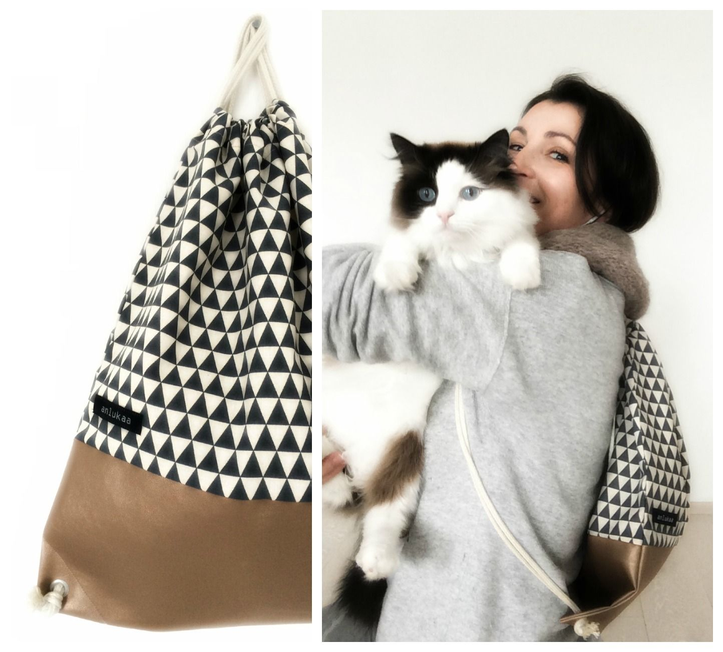 anlukaa glas faden turnbeutel rucksack der 2 handarbeiten pinterest rucksack. Black Bedroom Furniture Sets. Home Design Ideas