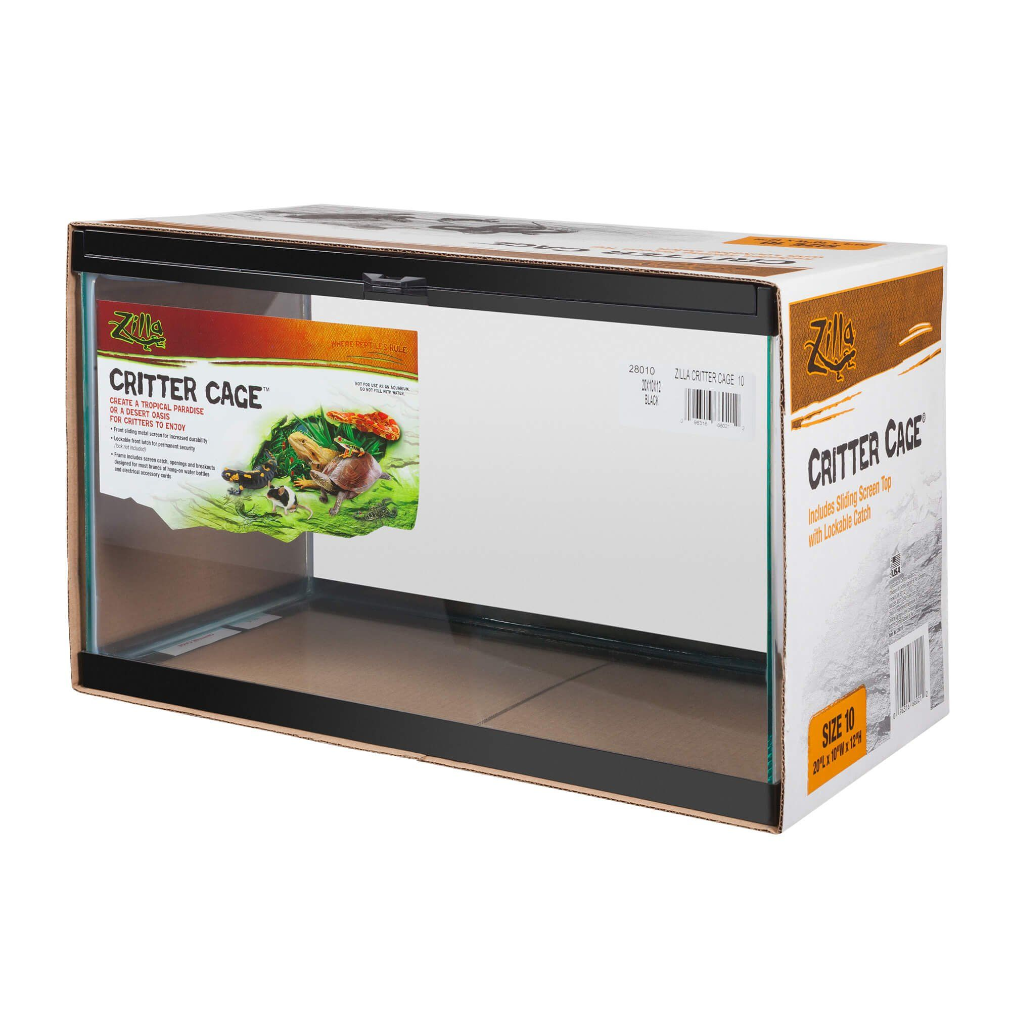 Zilla Critter Cage for Reptiles, 10 gallons  | Petco | pets