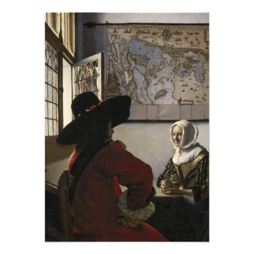 Officer and Laughing Girl by johannes #vermeer #art #invitation #cards