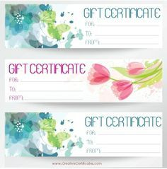 blank printable gift certificates