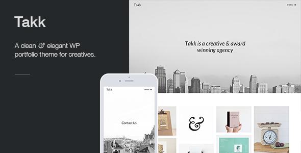 Takk: a clean and responsive WordPress portfolio theme with a ...