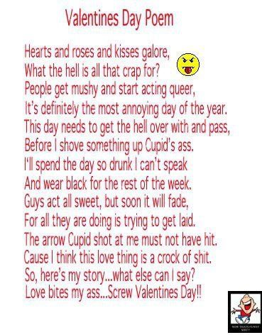 Funny Valentines Poems 6