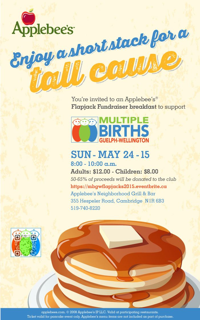One Of My Designs Flapjack Fundraiser Flyer For The Multiple Births Club Of Gw Fundraiser Flyer Graduation Dinner Fundraising