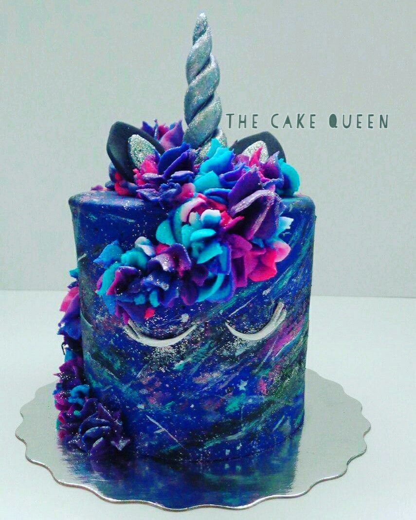 Galaxy Chocolate Birthday Cake