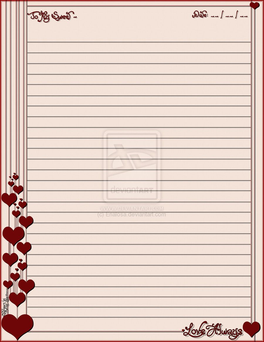 photo regarding Free Printable Stationery Template titled Get pleasure from Constantly Stationary by means of Erialosa upon DeviantArt