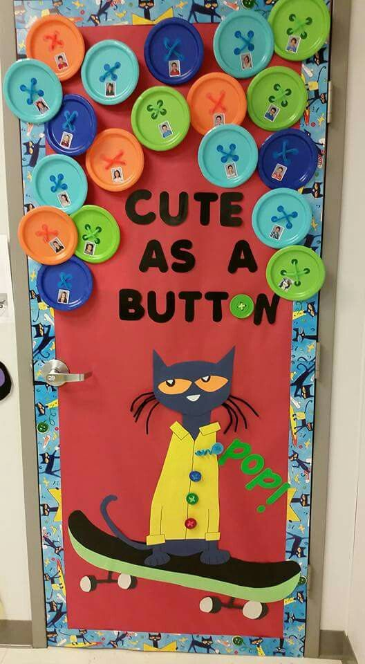 Amazing Pete The Cat Door Decor! Love This For Back To School Decor