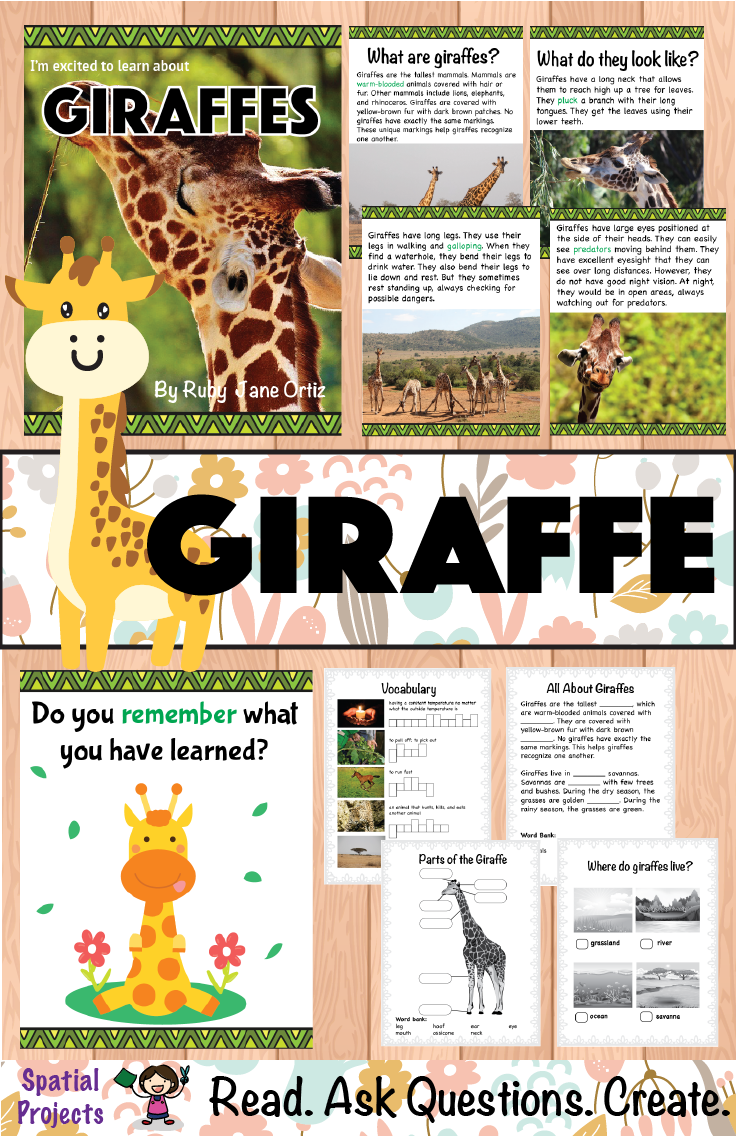 Check Out This All About Giraffes Nonfiction Unit For Your 1st 2nd Or 3rd Grade Students You Will Get A Boo Writing Activities Expository Writing Nonfiction [ 1136 x 736 Pixel ]