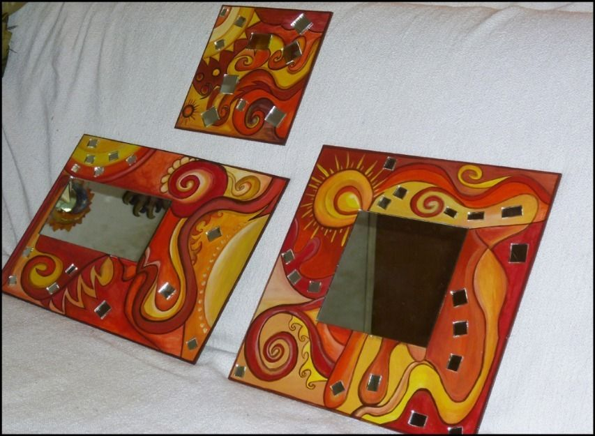 Marcos artesanales para espejos buscar con google for Marcos decorados para espejos