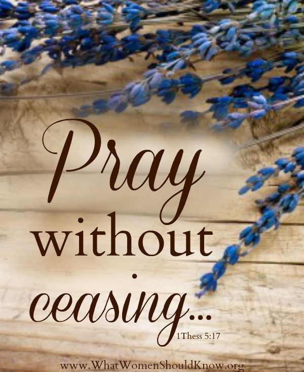 Image result for pray without ceasing