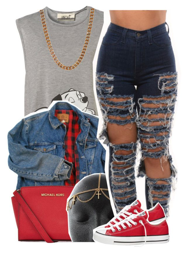 """Follow group account @we-goddess"" by lulu-foreva ❤ liked on Polyvore featuring Lovebullets, Wrangler, MICHAEL Michael Kors, Converse, women's clothing, women, female, woman, misses and juniors"