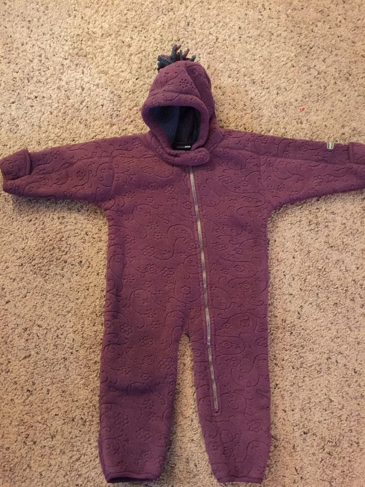 836fb5b55 Girls REI Infant Snow Suit Bunting Fleece Hooded Purple 18 Months #fashion  #clothing #