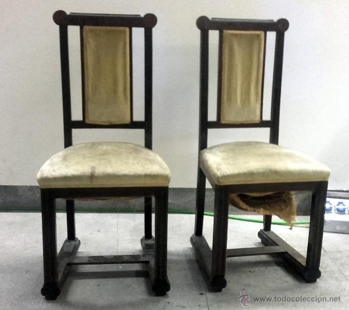 Lote dos sillas art d co para restaurar antig edades - Restaurar sillas antiguas ...