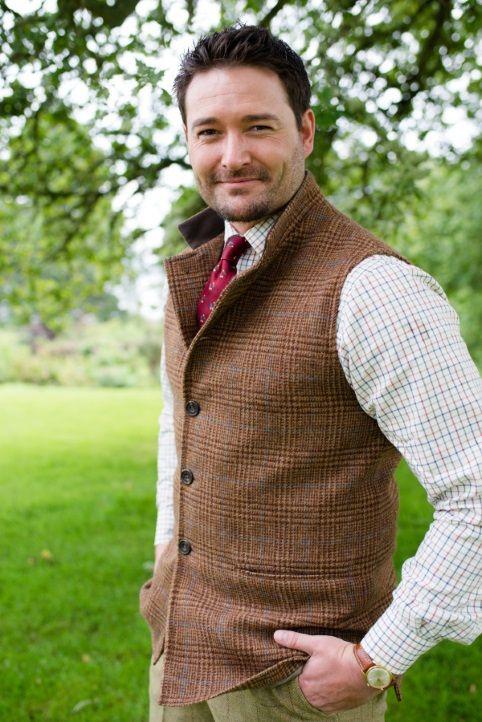 great fit new cheap cheap sale Mens Shetland Tweed Gilet Waistcoat | Fashion! in 2019 ...