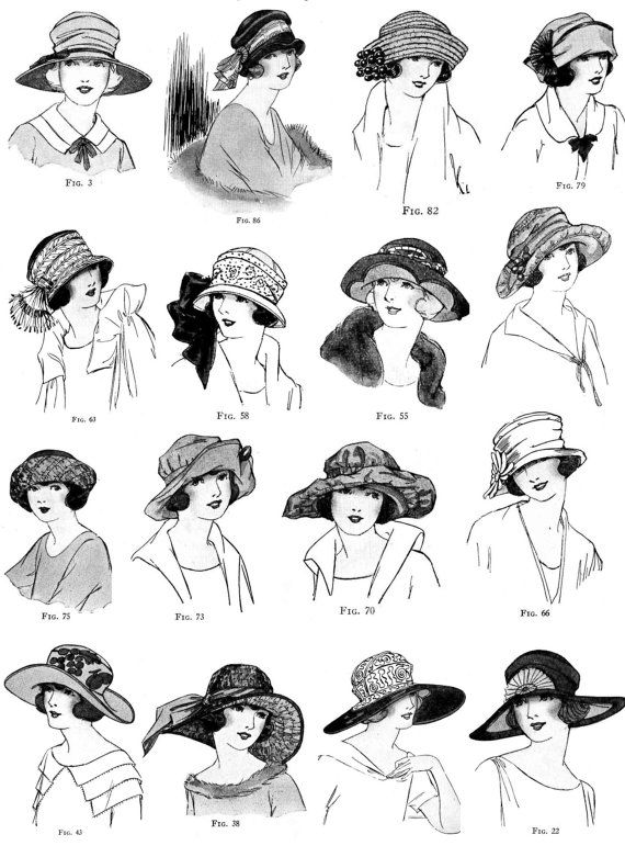 Vintage Millinery Book 1920's Developing Hats of Yardage