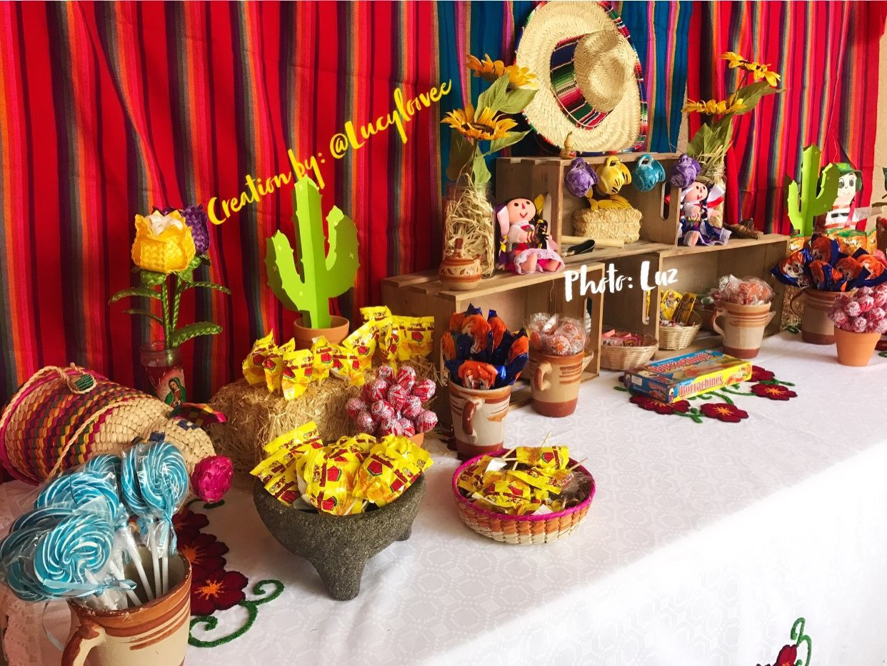 Mexican Candy table, Mexican theme party, Fiesta Mexicana