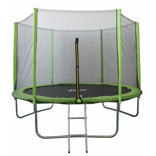 North Gear 10 Foot Trampoline Set With Safety Enclosure And Ladder Silver Best Trampoline Outdoor Trampoline Kids Trampoline