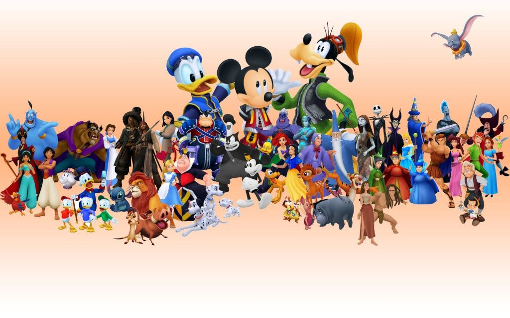 All Disney Characters Hd Wallpaper 1080p Dengan Gambar
