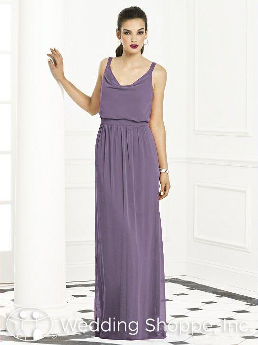 A comfortable long chiffon bridesmaid dress that is modern and sleek ...
