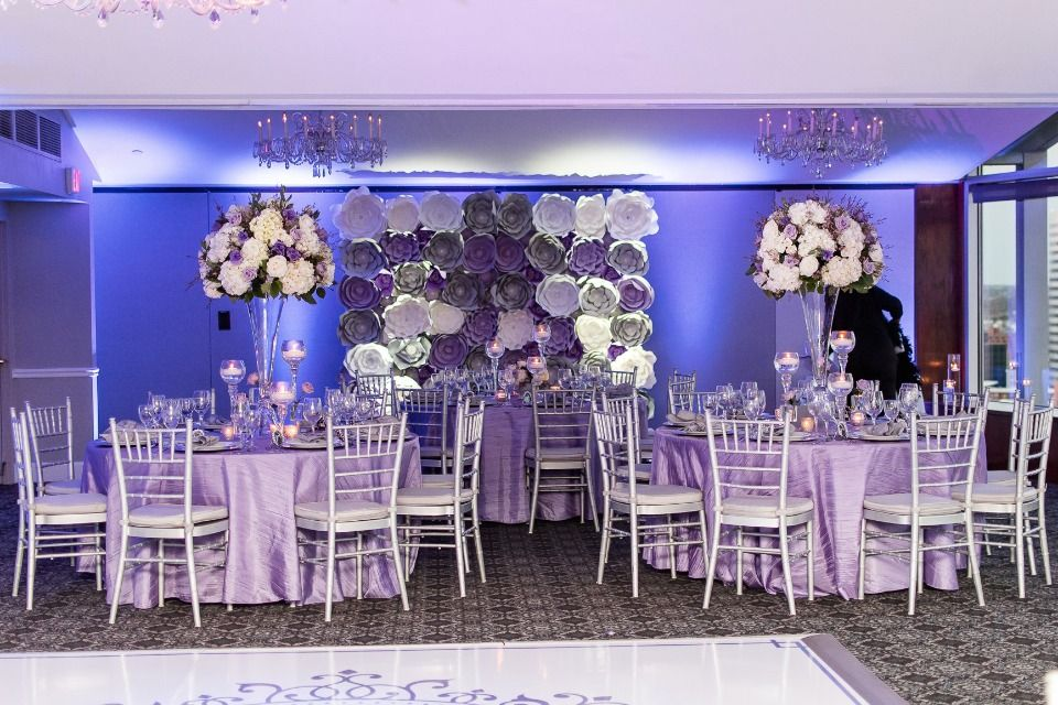 Purple White And Silver Wedding Decor Details For Weddings