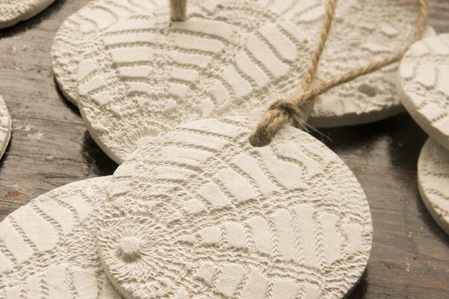 Handmade clay christmas ornaments by amelia herbertson, via Flickr