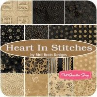 Heart In Stitches Fat Quarter Bundle<BR>Bird Brain Designs for Maywood Studios