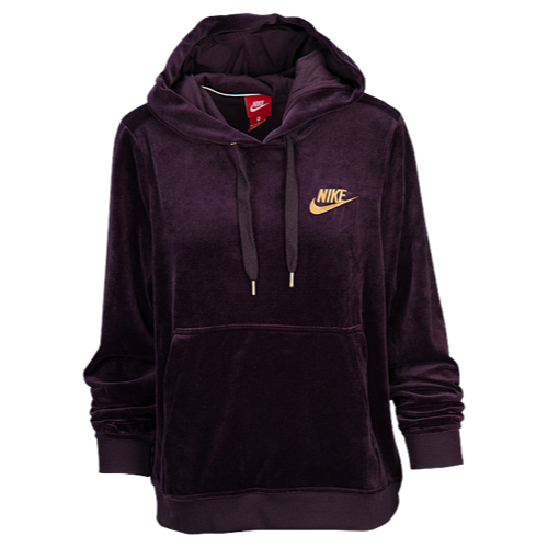 7955d9eb5c19 Nike Velour Pulllover Hoodie - Women s at Lady Foot Locker